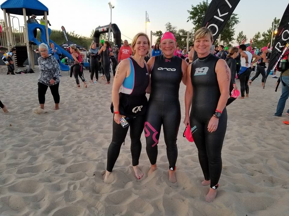 Swim start Steelhead 70.3 Aug 2017