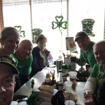 Gunselman's Leprechaun Chase - post race hydration and Lucky Charms