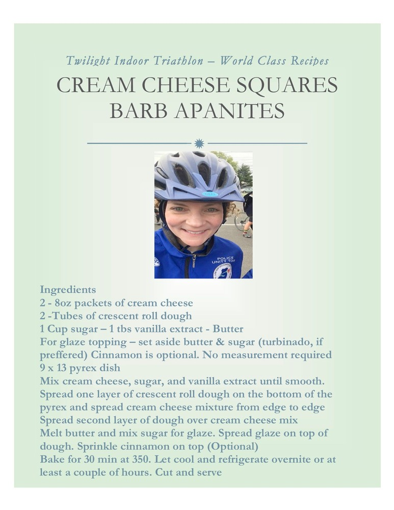 Barb Apanities - World Class Recipe