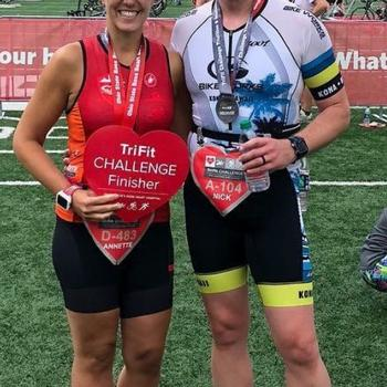 Annette and I at the Ohio State Ross TriFit Challenge 2018