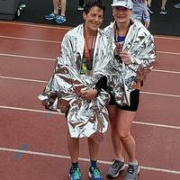 Aimee and Beth at Athens half