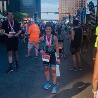 Dirty and bloody but vertical at Cleveland 13.1